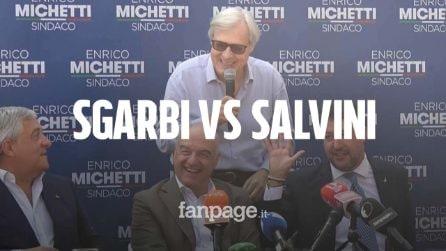 """Salvini attacca Lucano. Sgarbi lo spiazza: """"Io gli ho dato la cittadinanza onoraria"""""""