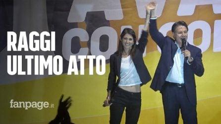 """Raggi chiude la campagna con Conte e Grillo: """"Vi abbiamo fatto vedere di cosa siamo capaci"""""""