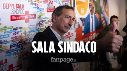 """Elezioni Milano, Sala vince al primo turno: """"Sun propi cuntent, sarò davvero il sindaco di tutti"""""""