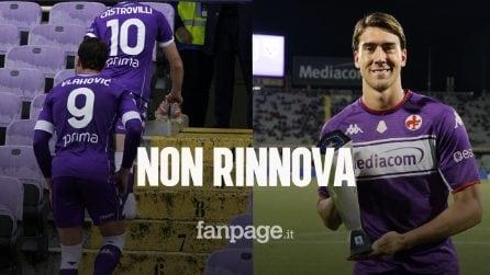 """Vlahovic è sul mercato, l'annuncio di Commisso: """"Non ha accettato il rinnovo con la Fiorentina"""""""