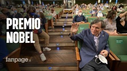 """Alla Sapienza applausi e cori per il Nobel per la fisica Giorgio Parisi: """"It's coming Rome"""""""