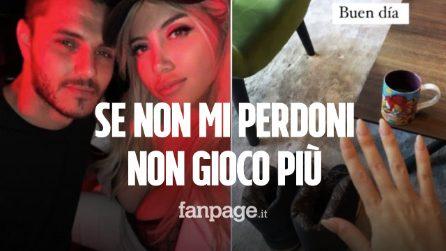 """Icardi disperato per la crisi con Wanda Nara: """"Se non mi perdoni non gioco più"""""""
