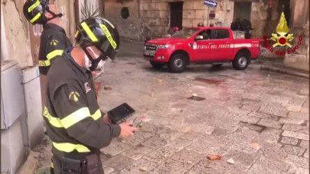 Palermo, cadono calcinacci dalla chiesa dellOriglione e finiscono sulle auto parcheggiate