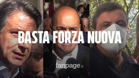 """Assalto alla Cgil, Pd e Conte: """"Meloni e Salvini scendano in piazza contro il fascismo"""""""
