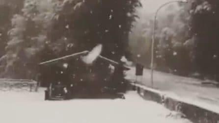 Arriva la prima neve in Campania: a Bocca della Selva il paesaggio è già natalizio