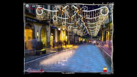A Napoli arrivano le Luci di Natale: albero di 20 metri al Plebiscito e Babbo Natale gigante