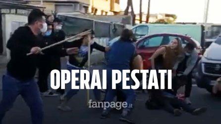 """Prato, raid con mazze da baseball contro operai Dreamland in sciopero: """"Polizia inerme"""""""