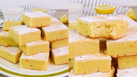 Quadrotti di ricotta e limone: facilissimi e veloci!