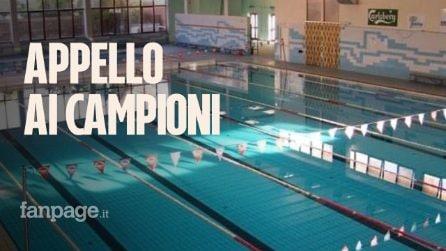 """Ponticelli, piscina chiusa da un anno: """"Velotto e Rosolino nuotavano qui, aiutateci a riaprirla"""""""