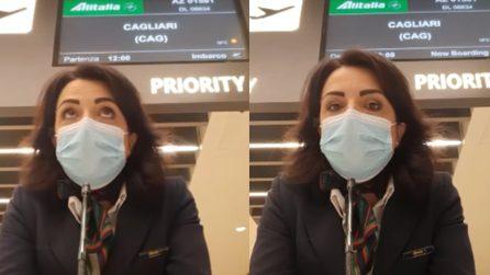 L'annuncio dell'ultimo volo della storia di Alitalia