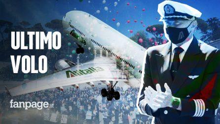 L'ultimo volo Alitalia, l'addio commosso dei dipendenti: nasce la nuova compagnia aerea Ita-Airways