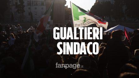 """Gualtieri chiude la campagna elettorale a piazza del Popolo: """"Faremo ripartire questa città"""""""