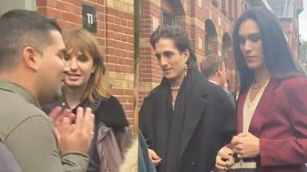 """Un fan canta """"Beggin"""" ai Maneskin ad Amsterdam, la reazione di Damiano e compagni"""