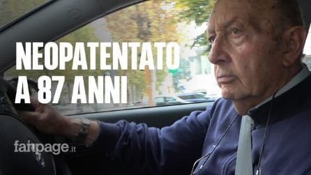 """Nonno Antonio, 87 anni, è il neopatentato più anziano d'Italia: """"I quiz? Una trappola"""""""
