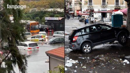 """""""In 3 giorni la pioggia di 6 mesi"""": le immagini di Catania in ginocchio dopo il nubifragio"""